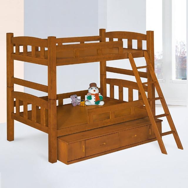 【Bernice】喬可功能型雙層床架(附抽屜櫃)