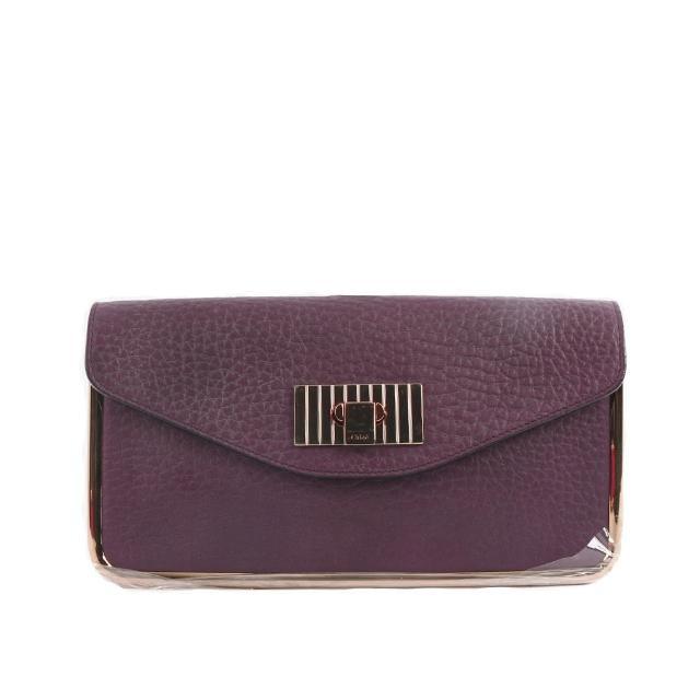 【CHLOE】SALLY 手拿包_展示品(藍莓紫)