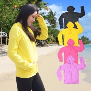 【KICAMPING】COLORFULl抗UV吸排涼感連帽外套 防曬手袖(四色任選)