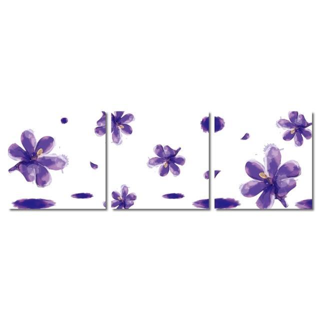 【123點點貼】三聯式無痕壁貼防潑水重覆黏貼不殘膠藝術創意壁飾-30x30cm(1610407-2)