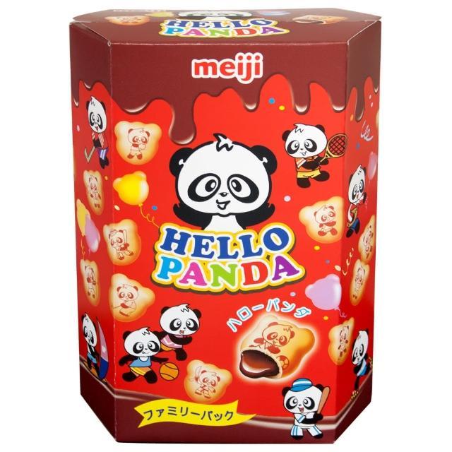 【明治】HELLO PANDA 貓熊夾心餅乾-巧克力口味175g(夾心餅乾)