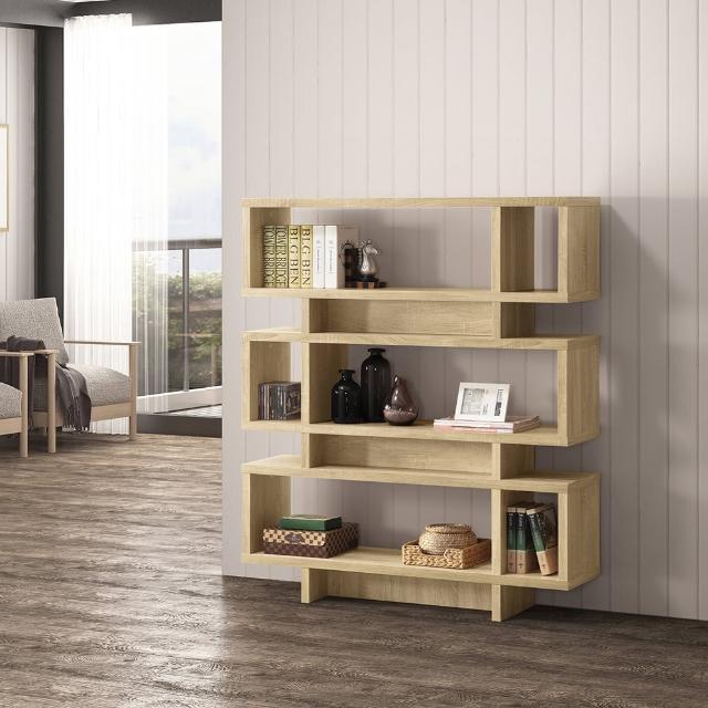 【COMDESK】摩登書櫃-3D木紋-淺木色(置物櫃/收納櫃)