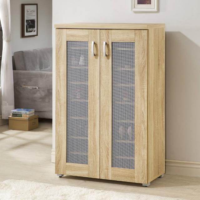 【MASTER】透氣雙門高鞋櫃-3D木紋淺木色(鞋櫃/收納櫃)