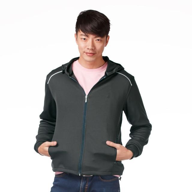 【遊遍天下】MIT台灣製男版連帽抗UV吸濕排汗機能外套 深灰(M-3L)