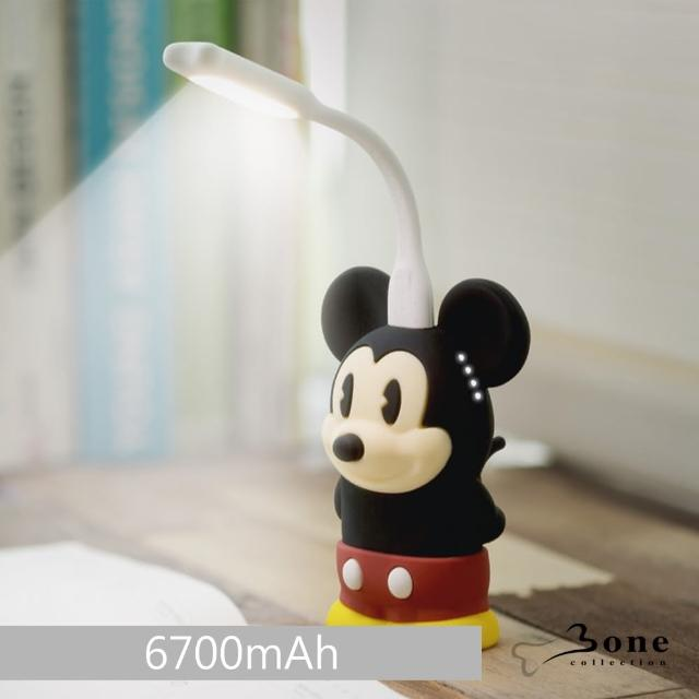 【Bone】米奇公仔行動電源 6700mAh(加贈 Bone設計款LED燈)