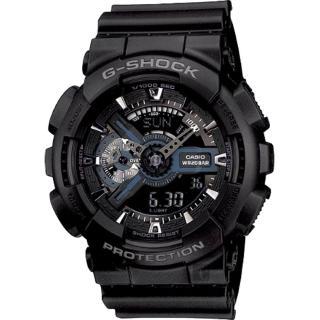 【CASIO】卡西歐 G-SHOCK 重機悍將雙顯錶-黑(GA-110-1BDR)