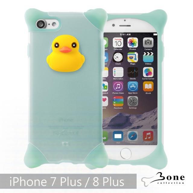 【Bone】iPhone 8 Plus / 7 Plus 泡泡保護套 - 鴨子(四角防撞 無毒環保矽膠)