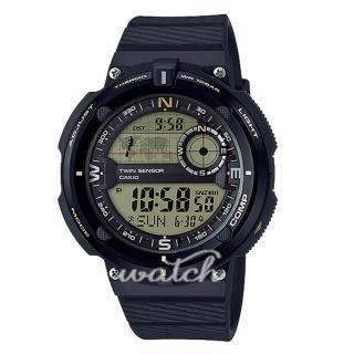 【CASIO 卡西歐】戶外活動首選 數碼指南針 溫度測量 防水 登山錶 男錶(SGW-600H)