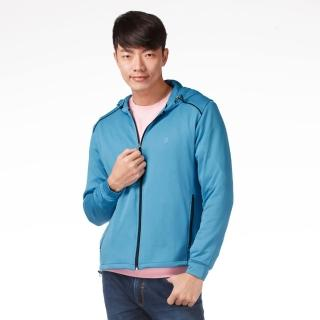 【遊遍天下】MIT台灣製男版連帽抗UV吸濕排汗機能外套112-1寶藍(M-3L)