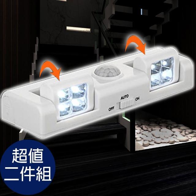 【I Fun】旋轉式LED感應燈-二件組(感應燈)