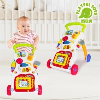 【Playful Toys 頑玩具】手推音樂學步車(學步車 幼兒學步車 多功能學步車 兒童玩具 早教益智啟蒙)