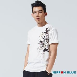 【BLUE WAY】金標五輪空 月兔圓領短TEE-日本藍