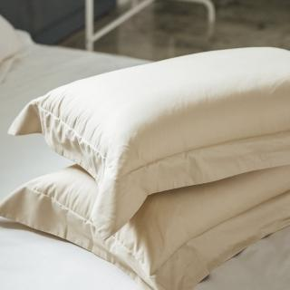 【LAMINA】純色-卡布奇諾 精梳棉枕頭套(2入)