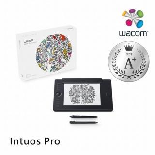 【Wacom】Intuos Pro Medium 雙功能創意觸控繪圖板 經典黑