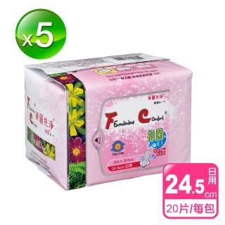 【長榮生醫】FC美麗先淨天然草本抑菌衛生棉(日用*5包/共100片-網)