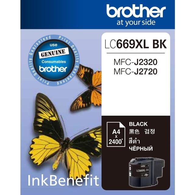 【Brother】LC669XL-BK 原廠黑色墨水匣(速達)
