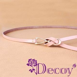 【Decoy】八字結繩*真牛皮細皮帶/四色可選