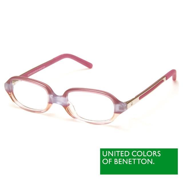 【BENETTON 班尼頓】專業兒童眼鏡 透色方框造型系列(紅/黃 BB013-01/02)