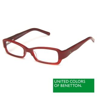 【BENETTON 班尼頓】專業兒童眼鏡 弧線LOGO設計系列(紅/藍 BB014-02/03)
