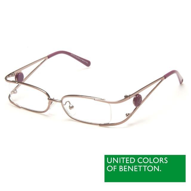 【BENETTON 班尼頓】專業兒童眼鏡 金屬線型圓扣LOGO設計系列(紅黃/紫/藍 BB025-02/03/04)