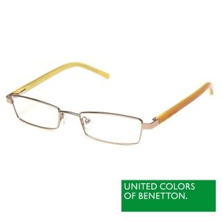 【BENETTON 班尼頓】專業兒童眼鏡 金屬質感框形系列(橘黃 BB026-03)