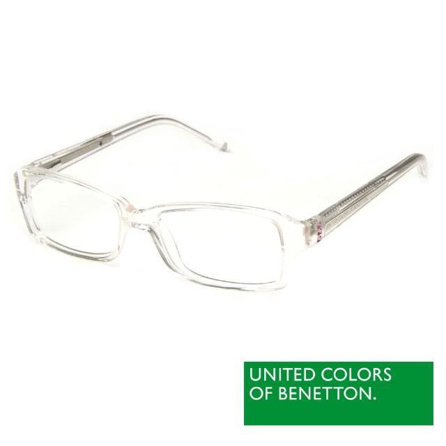 BENETTON 班尼頓 專業兒童眼鏡鑲鑽方框混搭設計系列(白/橘紅//紫粉 BB032-01/02/03)