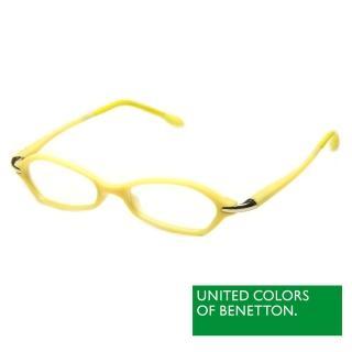 【BENETTON 班尼頓】專業兒童眼鏡 不規則曲面雙色設計系列(亮黃  BB043-84)