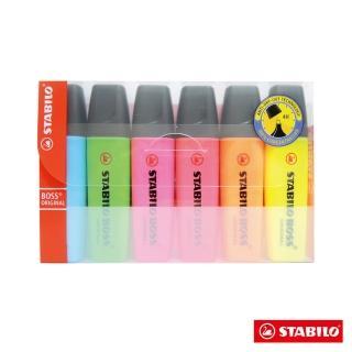 【STABILO 天鵝牌】BOSS 螢光筆6色(世界第一款螢光筆)