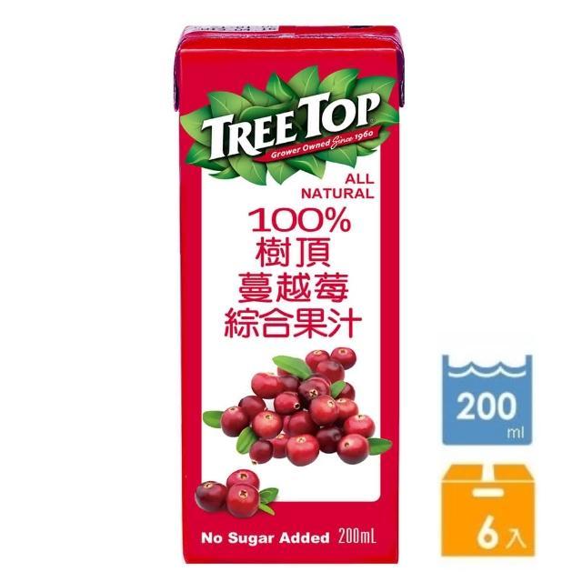 【Tree top】樹頂100%蔓越莓綜合果汁200ml*6