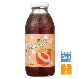 【Bessie Byer】貝思寶兒蜜桃果茶360ml*6罐