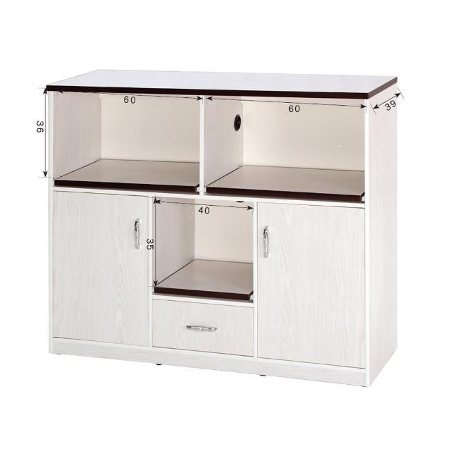【顛覆設計】潮濕剋星-防水塑鋼白雪杉拖盤電器櫃-寬127深42高112cm