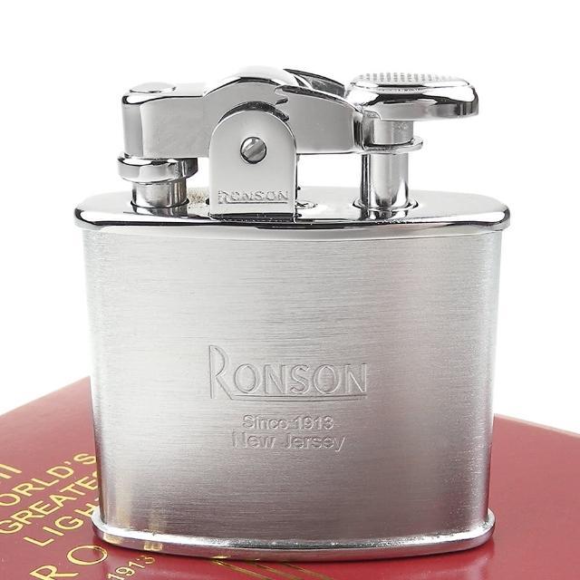 【RONSON】Standard系列-燃油打火機(緞銀款)