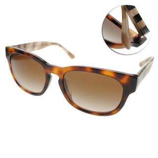 【BURBERRY 太陽眼鏡】英倫風簡約款(琥珀棕#BU4226F 360113)