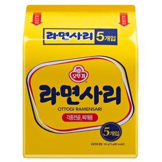 【韓國不倒翁OTTOGI】Q拉麵 純麵條(110公克x 5入)