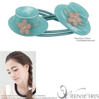 【Rena Chris】小禮帽雙頭髮束(Emerald)