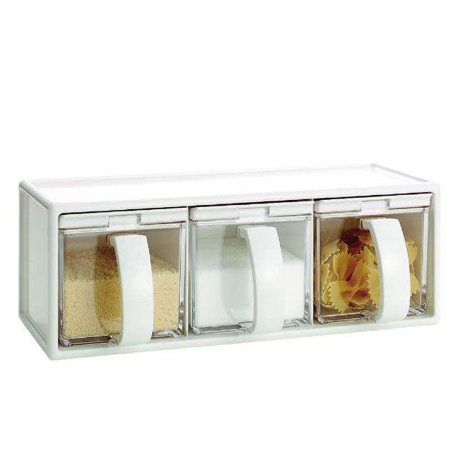 【ASVEL】FORMA調味盒組三入-480ml(廚房收納 料理烘培 密封保鮮 調味瓶 調味罐 鹽巴味精砂糖)