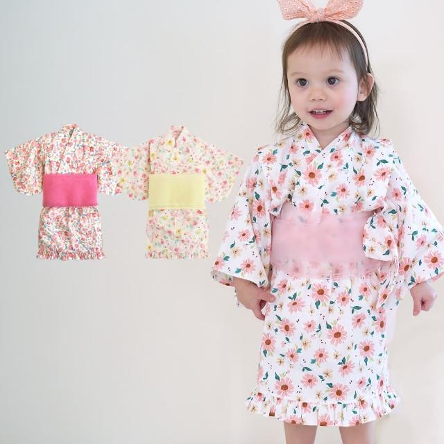 【baby童衣】日式和風女童和服套裝 附腰帶 60250(共2色)
