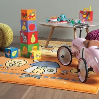 【范登伯格】卡比諾★白兔家園地毯(70x140cm)