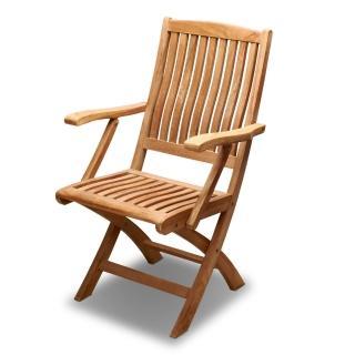 【BROTHER 兄弟牌】柚木古典扶手折疊椅(印尼柚木)