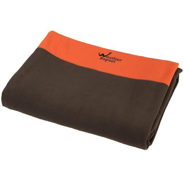 【北歐Weather Report】加大型單人毛毯(WD430B-08 咖啡/橘)
