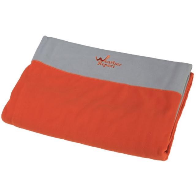 【北歐Weather Report】加大型單人毛毯(WD430B-08 橘 / 淺灰)