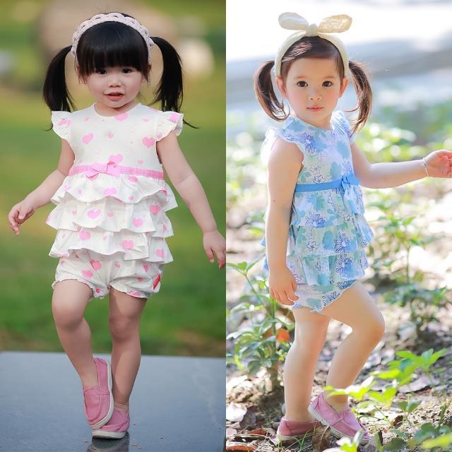 【baby童衣】小飛袖蛋糕裙連身衣 61136(共2色)