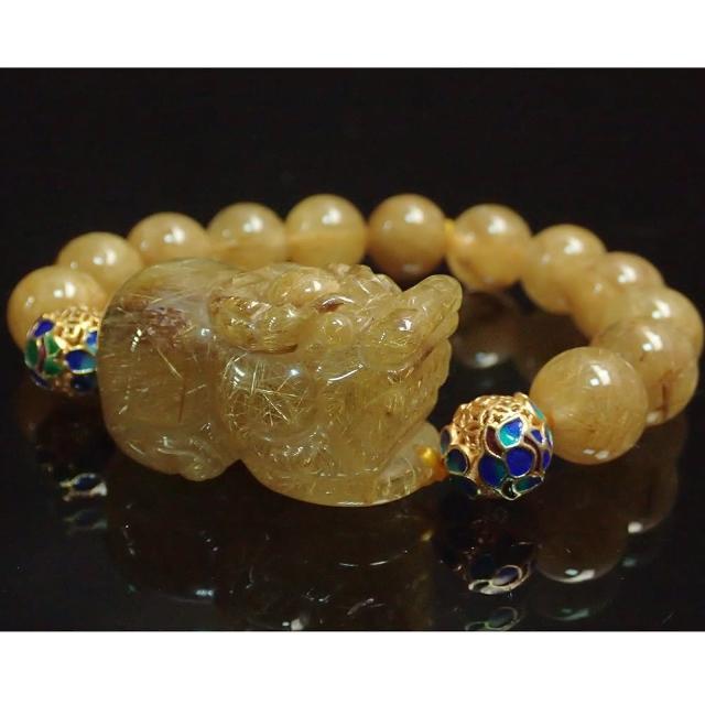 SUMMER珠寶 珍稀滿絲鈦晶帝王貔貅