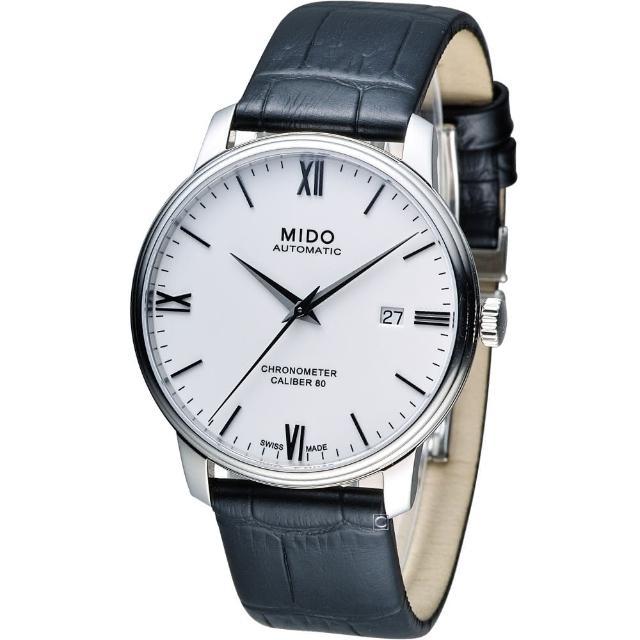 【MIDO 美度】Baroncelli III 永恆系列矽游絲天文台認證機械錶(M0274081601800)