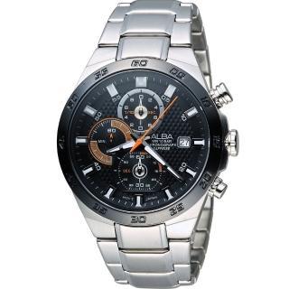 【ALBA 雅柏】活力運動型男三眼計時腕錶(VD57-X080D AM3337X1)