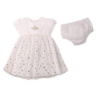 【baby童衣】任選 滿天星星網紗裙 附小褲褲  2件套 60183(白)