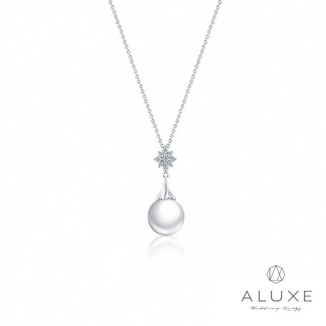 【A-LUXE 亞立詩】寵愛系列 18K鑽石AKOYA珍珠項鍊