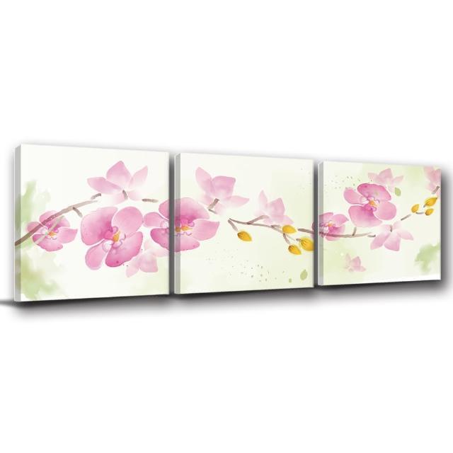 【123點點貼】三聯式無痕壁貼防潑水重覆黏貼不殘膠藝術創意壁飾-30x30cm(1811945-6)
