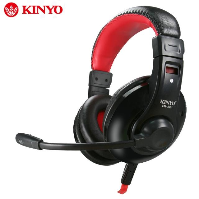 【KINYO】超重低音立體聲耳機麥克風(EM-3651)