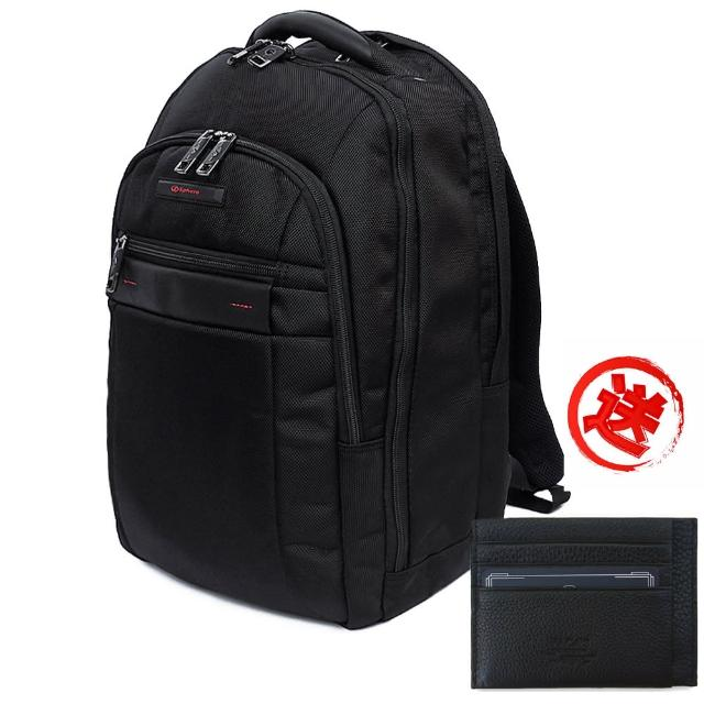 【Sphere斯費爾】都會商務休閒電腦後背包 黑色(電腦背包)